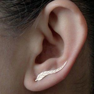 Goldtone Slider Earrings